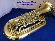 Miraphone 186 4/4 BBb Tuba  4 rotary valves UPRIGHT BELL PRO MODEL 1981 Restored