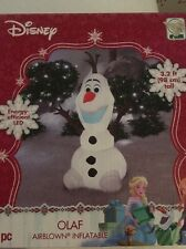 Inflatable Olaf Christmas Yard Decor Air Blown Gemmy Disnep LED