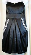 CITY TRIANGLES Little Black Bling Mini Strapless Occasion Prom Dress Size 11