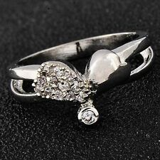 Childrens Jewelry Cubic Zirconia White Gold Filled Women Heart Girls Ring Size 6