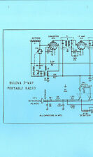 Nice *COPY* Bulova 3 Way Portable AM Transistor Radio Schematic Diagram