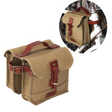 Tourbon Bike Bicycle Frame Bag Double Panniers Cycling Front Tube Vintage Brown