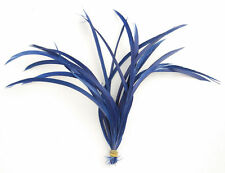 20 Navy Blue Loose Goose Biot Feathers length 16cm-19cm - crafts, millinery, fly