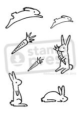 A7 'Rabbit Collection' Unmounted Rubber Stamp (SP004411)