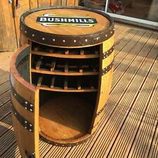 "Recycled Solid Oak Whisky Barrel Bushmills ""Balmoral"" Drinks Wine Rack"