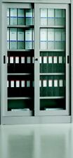 Armadio Ufficio archivio metallo ante vetro scorrevoli 180x45x200 con serratura