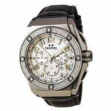 TW Steel CE4005 Gent's CEO Kivanc Diamond Chrono MOP Dial Grey Strap Watch