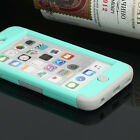 For iPod Touch 6 & 5th Gen Hybrid Rubber TPU Silicon Slim Hard & Soft Case Cover