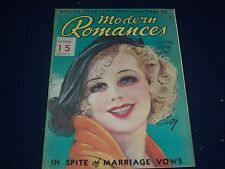 1935 OCTOBER MODERN ROMANCES MAGAZINE - PHOTOS - COVER BY EARL CHRISTY - J 1284
