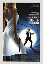 James Bond: * The Living Daylights *  Timothy Dalton USA  Movie Poster 1987