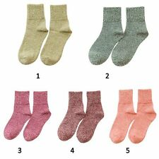 5 Pairs Women Thick Warm Socks Winter Soft Wool Cashmere Ladies Socks Gifts