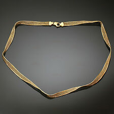 18k Yellow Gold Twisted Mesh Necklace
