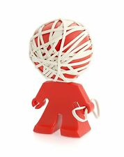 j-me Rafael Rubber Band Holder, RED Desk Home Office Organizer Accessory