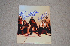 HINDER signed Autogramm In Person 20x25 cm US POST GRUNGE ROCKBAND