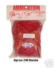 Medium Magnum Pistol Red Rubber Band Ammo for Wood Toy Shooter by Magnum RB324