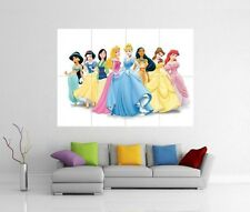 DISNEY PRINCESS GIANT WALL ART PICTURE PHOTO PRINT POSTER J84