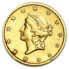 $1 Liberty Head Gold Coin - Type 1 - Random Year - Cleaned - SKU #55499