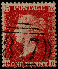 Sg40, 1d rose-red, LC14, FINE used. Cat £12. DD