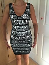 Bebe black and white bodycone dress size P/S