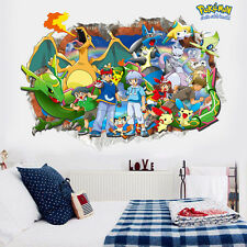 DIY 3D Effect Cute Pokemon Pikachu Decal Wall Stickers Decor Kids Nursery Room