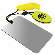 UST ULTIMATE SURVIVAL FIND ME COMBO WHISTLE & MIRROR WITH FLOAT BUSHCRAFT SCOUTS
