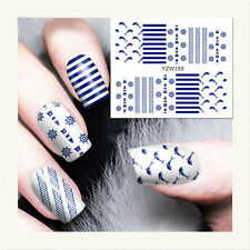 1PC DIY Nail Art Water Decals avec dessin de Mer Charmant Nail Stickers YZW150