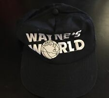 Vintage Wayne's World Broadway Video Adult Black Snap Back Movie Promo Hat 90s