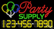 "NEW ""PARTY SUPPLY"" 32x17 w/YOUR PHONE NUMBER SOLID/ANIMATED LED SIGN 25090"