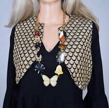 Juicy Couture BUTTERFLY Vintage look Statement Large Long MOD Necklace Rare HTF