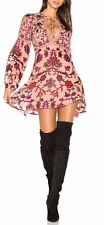"""***NEW FOR LOVE & LEMONS """"SAFFRON"""" MINI DRESS IN SUNSET FLORAL SIZE X-SMALL/P***"""