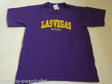 LA VEGAS Boys Girls Purple Embroidered Short Sleeved Top Age 10-11 years