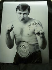 John H Stracey Signed 12x16 Boxing Photograph : A