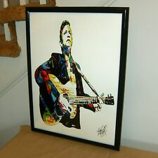 Johnny Cash, Singer Songwriter, Guitar Player, Country, 18x24 POSTER w/COA 2