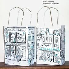 "Gift Bag - Small, Paper - Parisian Themed, 8 1/4"" h  x 5 1/2"" w  x 3 1/4"" deep"
