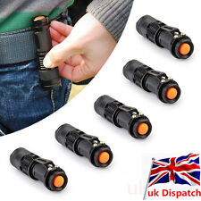 5pcs CREE Q5 LED Flashlight Adjustable Focus Zoom Light Lamp Torch 7W 1200LM