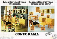 Publicité advertising 1978 (2 pages) Mobilier les Meubles Conforama