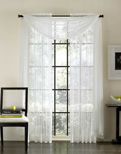2-Piece Sheer Voile Window Treatment Curtain Panel Drapes Solid Leopard Zebra