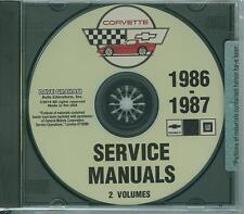 1986 1987  CORVETTE SHOP MANUAL  ON CD