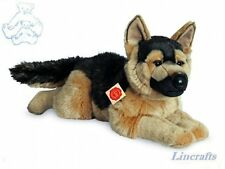 Lying German Shepherd Plush Soft Toy Dog by Teddy Hermann Collection. 91924