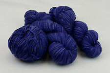 DK light worsted weight 100% superwash merino wool semi solid denim color