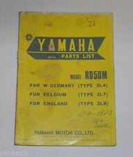 Ersatzteilliste / Spare Parts List Yamaha RD 50 M / RD50M Stand 12/1977