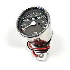 Mini Universal Motorcycle Mechanical 140 MPH Speedo Speedometer Gauge 2:1