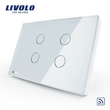 Livolo US VL-C304R-81 led Wall Light Touch Remote Switch+LED Indicator 4Gang -W