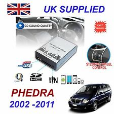 LANCIA PHEDRA mp3 USB SD CD AUX Input Adattatore Audio Digitale Caricatore CD Modulo