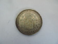 1871 Spain 5 Pesetas Amadeo I Savoy