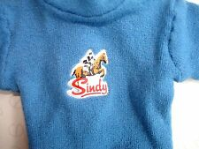 Vintage Pedigree Sindy Doll's Blue Jumper with Horse Motif & Press Studs