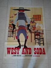 WEST AND SODA manifesto BRUNO BOZZETTO art western comics tavola fumetto cinema