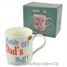 NEW Hands OFF Dad's MUG CUP Fine China Gift Boxed Fathers Day Christmas Birthday