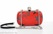 ALEXANDER McQUEEN FLOWER SKULL BOX CLUTCH SHOULDER BAG BNWT DETACHABLE STRAP