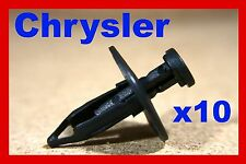 10 Chrysler under carriage splash shield guard tray fastener retainer clips